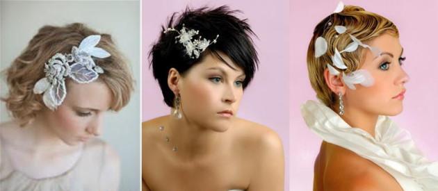 прическа на свадьбу на короткие волосы фото
