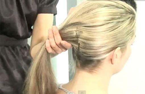Прическа ракушка на длинные волосы