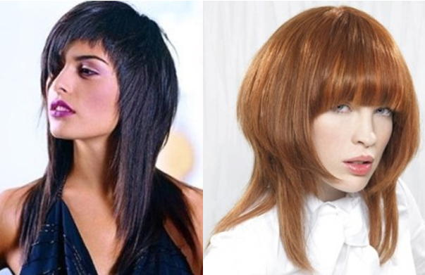 Классический каскад на длинные волосы