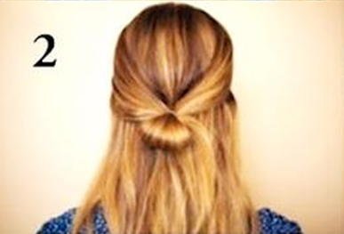 причёска бантик фото