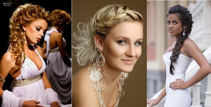 Свадебные прически косы-фото