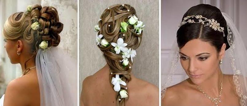 Прически на средние волосы фото на свадьбу невесте
