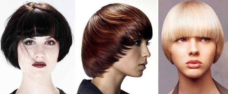 Фото стрижки сессон на средний волос