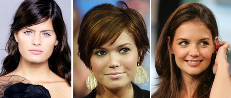 Причёски для лица с широкими скулами