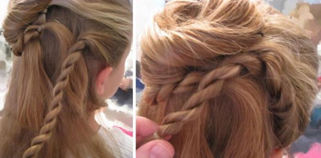 Прическа цветок из волос