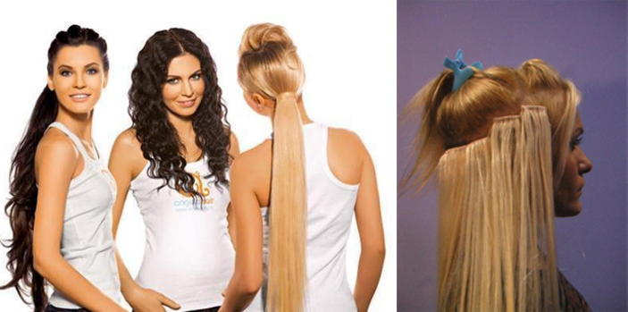 Как прицепить накладные волосы если свои короткие