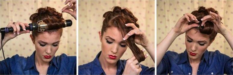 Прически в стиле пин ап на короткие волосы фото9