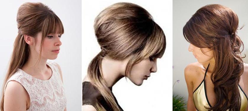 Простые прически с начесом на длинные волосы