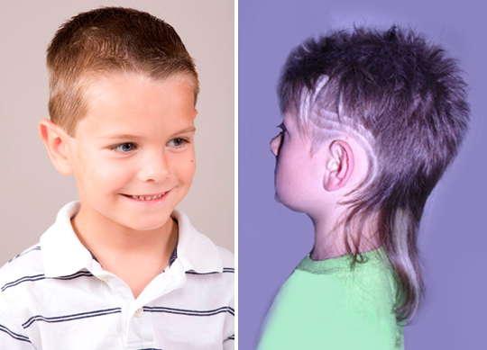 стрижка для мальчика с хвостом
