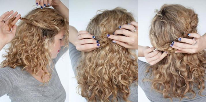 Простые причёски для кудрявых волос