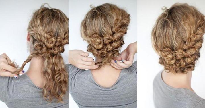 Укладка на вьющиеся волосы