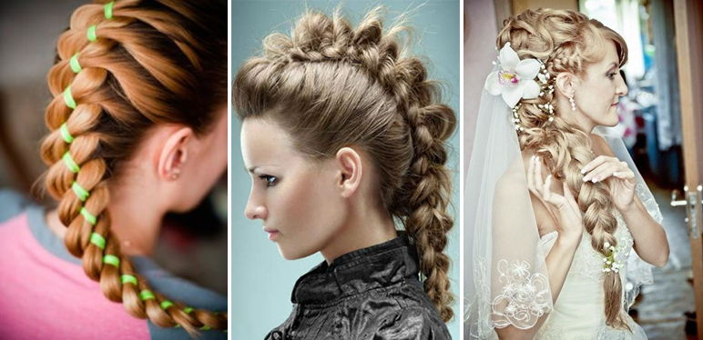 Плетение кос Пошаговое фото и инструкция для начинающих 11