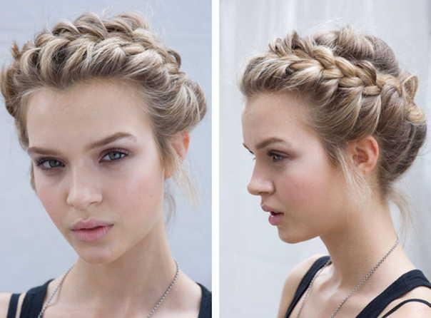 Прически на средние волосы колоски фото