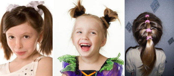 детские прически хвостиками фото