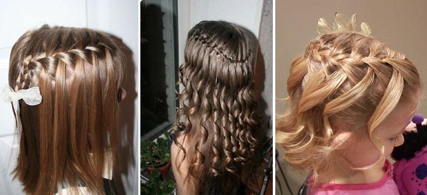 Причёски с распущенными волосами детям
