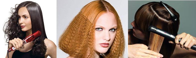 Как сделать волосы при помощи утюжка 994