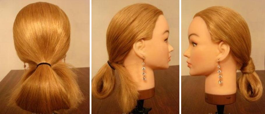 прически на длинные волосы хвостик с широкой резинкой