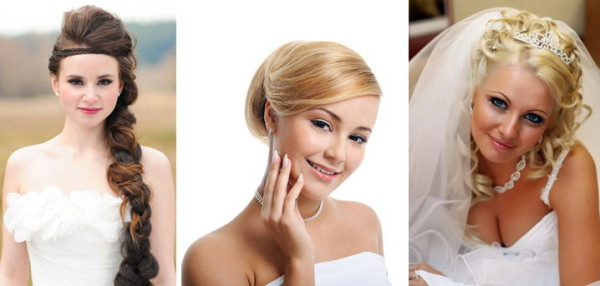 Прически на свадьбу для круглого лица