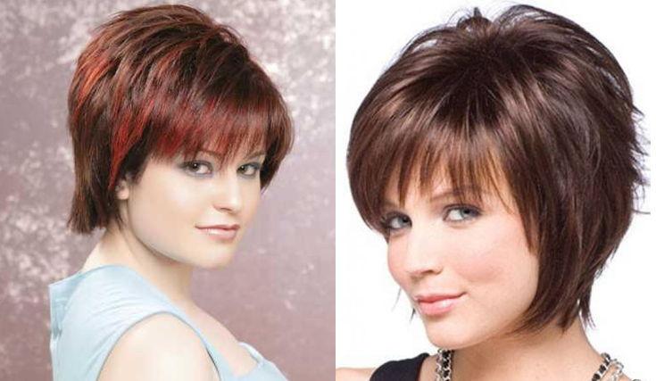 Фото объемные стрижки на короткие волосы для круглого лица