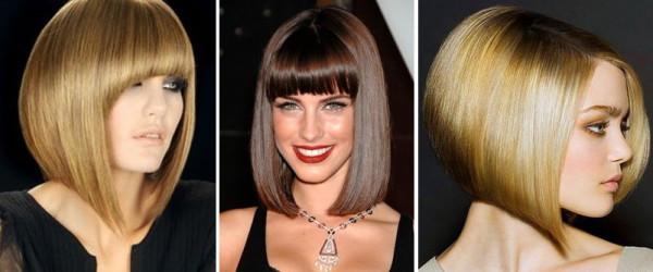 Удлиненная вариация каре на средних волосах