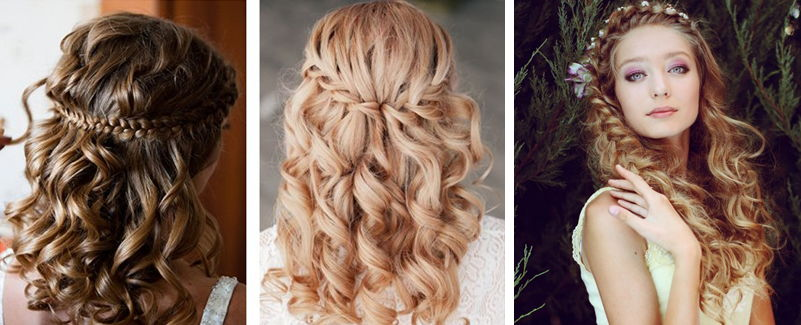 прически на длинные распущенные волосы с плетением