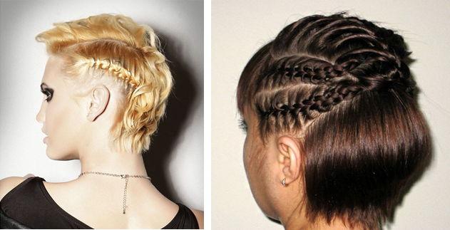 плетение косичек на короткие волосы фото