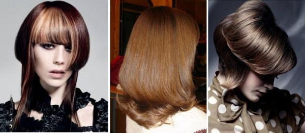 двойное каре на средние волосы