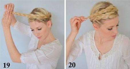 как заплести греческую косу - шаг 19-20