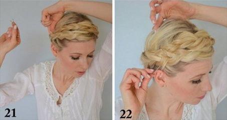 как заплести греческую косу - шаг 21-22