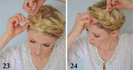 как заплести греческую косу - шаг 23-24