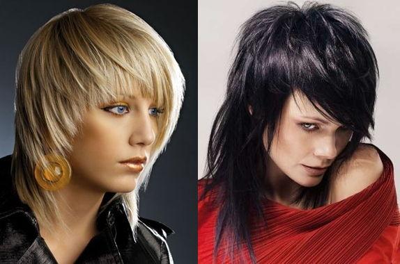 градуированный каскад на средних волосах