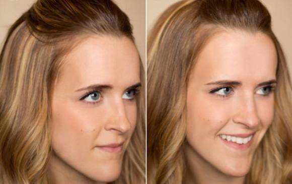 отделить немного волос спереди, начесать и заколоть невидимкой