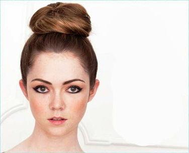 пучок на длинные волосы - вариант 1