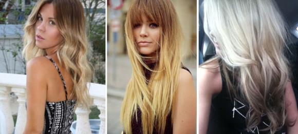 омбре на светлые волосы фото