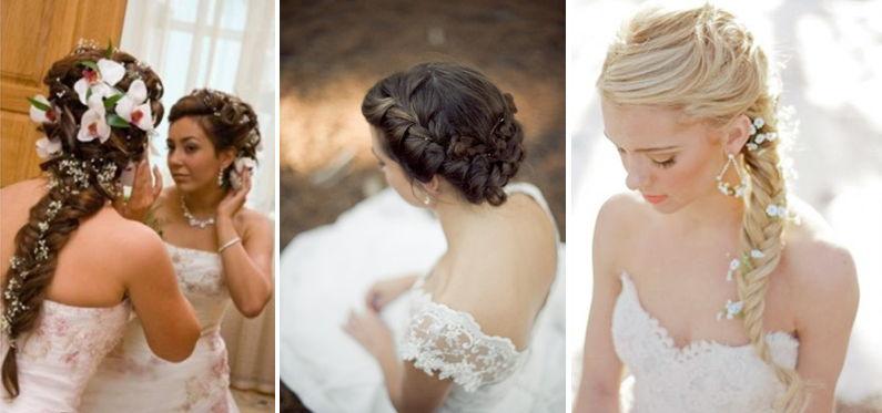 Свадебная прическа невест плетение