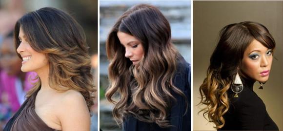 акцентирование кончиков волос