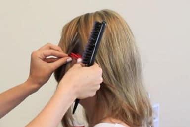 """волосы разделите на """"рабочие"""" зоны"""