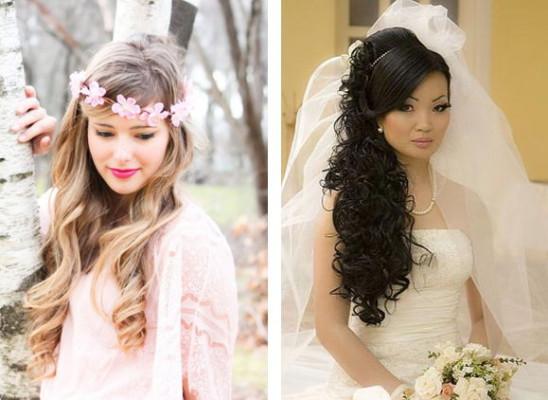 свадебные прически с накладными прядями на фото