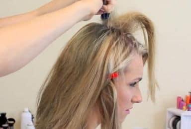 волосы на макушке начесать