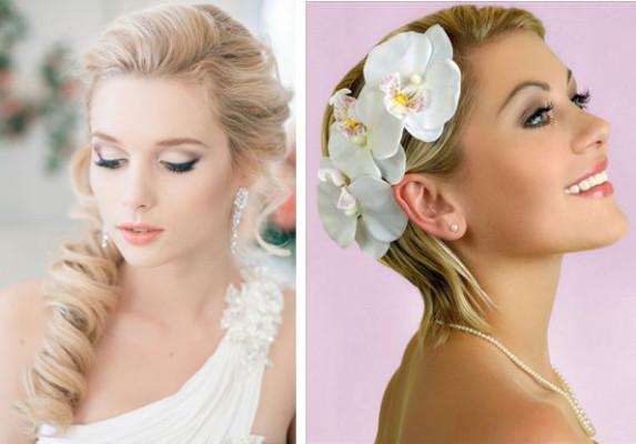 свадебные прически с накладными прядями на короких волосах