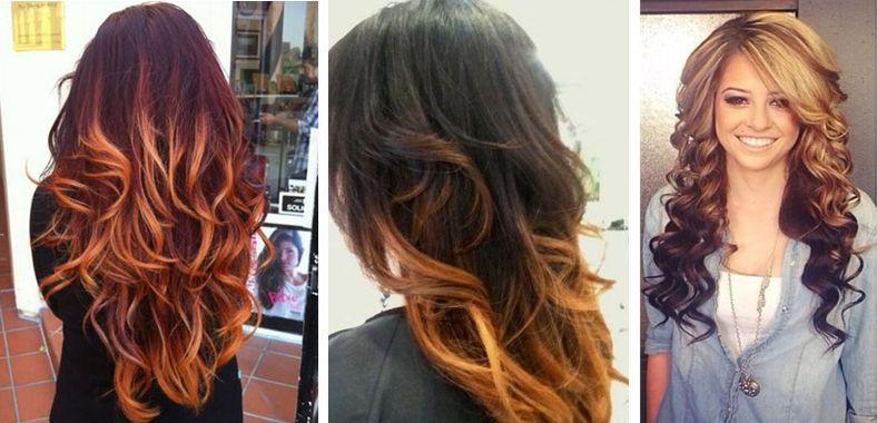 Как делать омбре на рыжие волосы