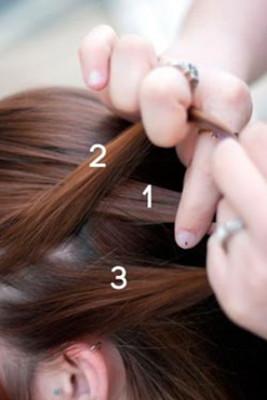 Как плести косу на выворот пошагово