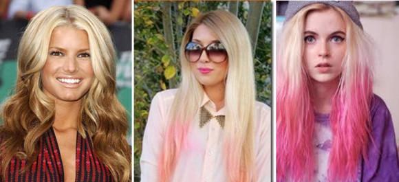 Двухтональное окрашивание на светлых волосах