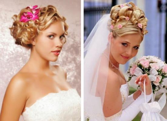 свадебные прически с накладными прядями на средних волосах