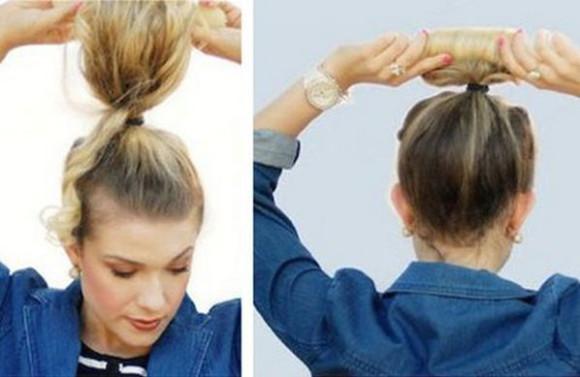 наматываем волосы на валик