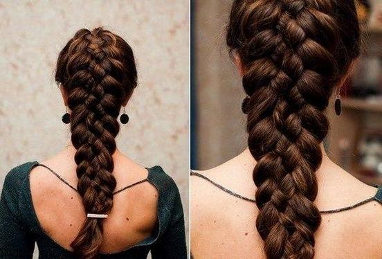 Плетение косы из 5 прядей пошаговая инструкция