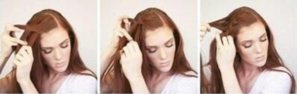 Объемная коса на бок - шаг 1