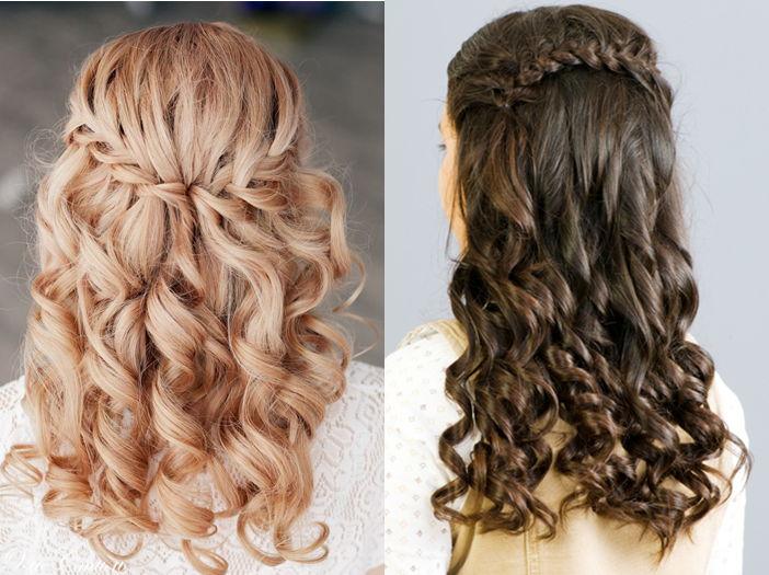 Прически для девочек для накрученных волос