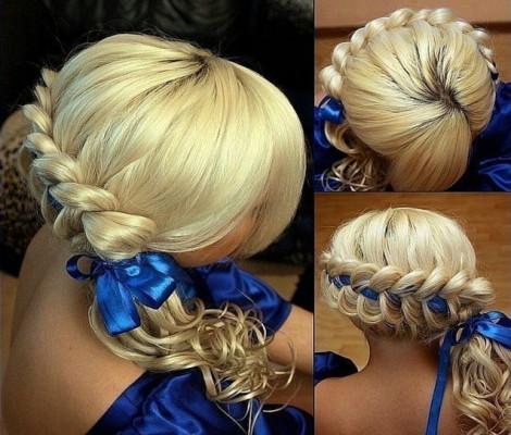 Накрученные волосы средней длины
