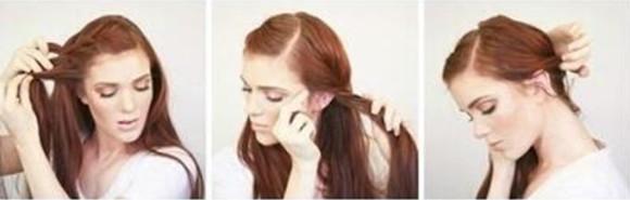 Объемная коса на бок - шаг 2